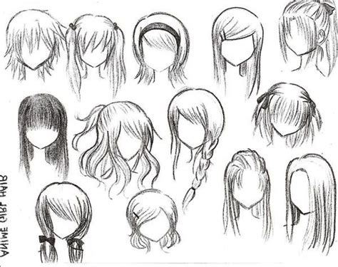 medium length hairstyle sketches anime girl hairstyles all hair style for womens