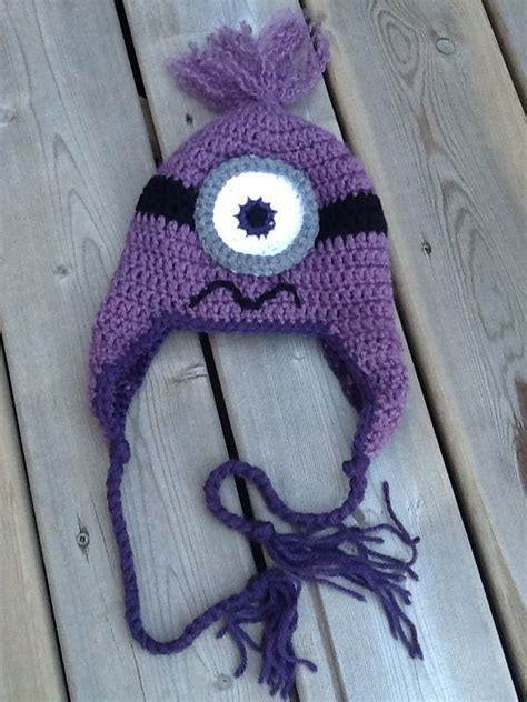 Free Crochet Pattern Purple Minion Hat