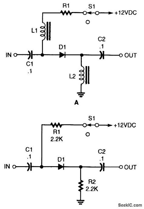 pin diode switch circuit basic pin diode rf switch control circuit circuit diagram seekic