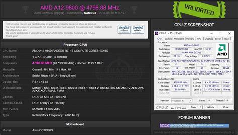 Laptop Asus Amd A12 el amd a12 9800 alcanza los 4 80 ghz por aire con la asus octopus el chapuzas inform 225 tico