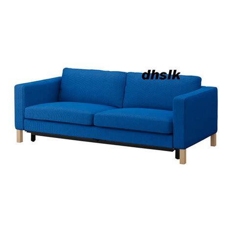 karlstad sofa bed slipcover ikea karlstad sofa bed sofabed slipcover cover korndal medium blue