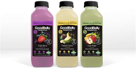 protein drinks goodbelly introduces probiotic protein shake line