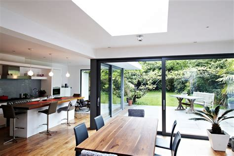 kitchen diner extension ideas house with floor to ceiling glass and beautiful nature views