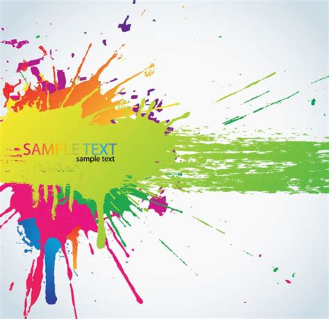 colorful paint splats vector background free vector eps10