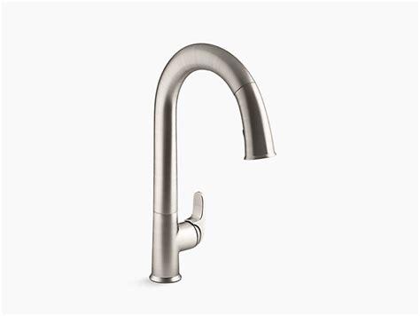 sensate touchless kitchen faucet k 72218 sensate touchless pull kitchen sink faucet kohler