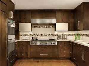 contemporary kitchen with mosaic tile backsplash beck allen cabinetry