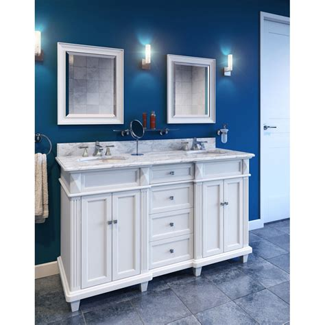 Bathroom Vanity Handles Hardware Resources Shop Van094d 60 T Mw Vanity White Elements Large Bathroom Vanities By