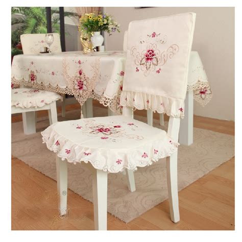 Dining Room Chair Cushions With Ruffles Vintage Flower Embroidered Tie On Seat Cushion Ruffle Pad