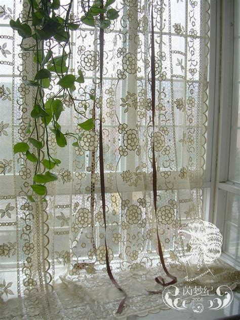 french country lace curtains french country hand crochet lace balloon shade sheer cafe