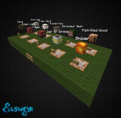 Minecraft Heads Decoration by Quot Jurassic Collection Quot Decoration Player Heads Schematic