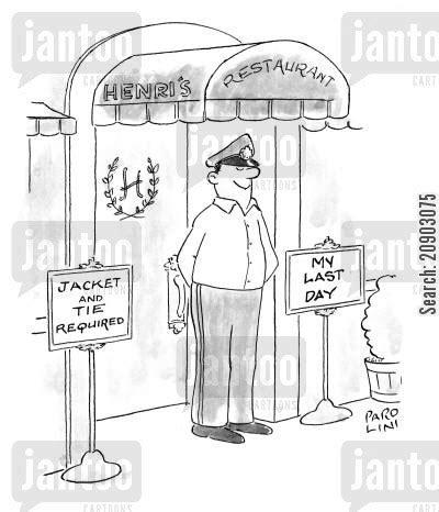 Jaket Catton Door doormen humor from jantoo