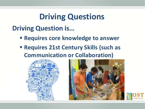 drive questions planning structured activities project based learning