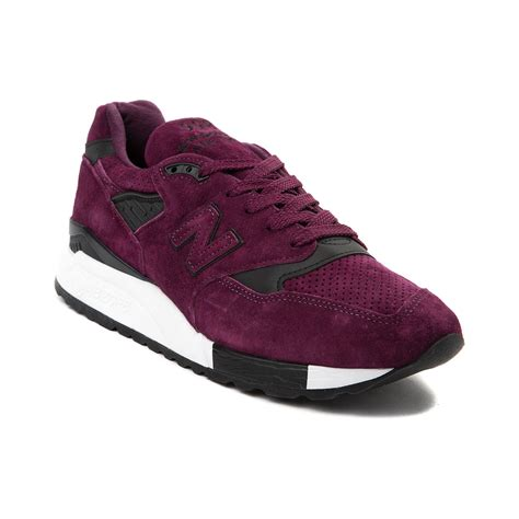 purple new balance sneakers mens new balance 998 athletic shoe purple 401637