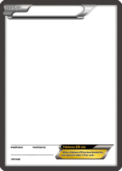 ex card template bw ex black card blank template by the ketchi on