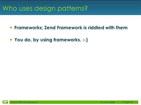 design pattern in zend best practices with zend framework matthew weier o phinney