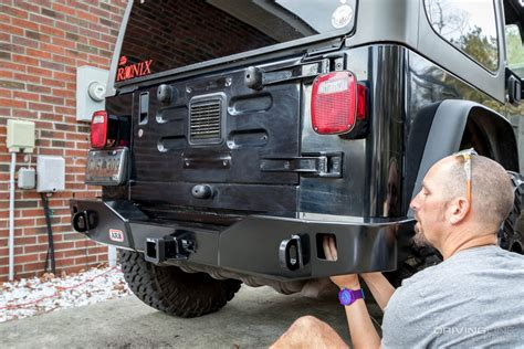 jeep wrangler tj rear bumper arb jeep wrangler rear bumper and tire carrier review