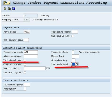 supplement payment hello world sap automatic payment program payment