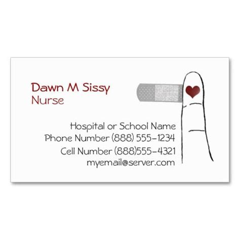 cards for nursing templates 187 best business cards images on