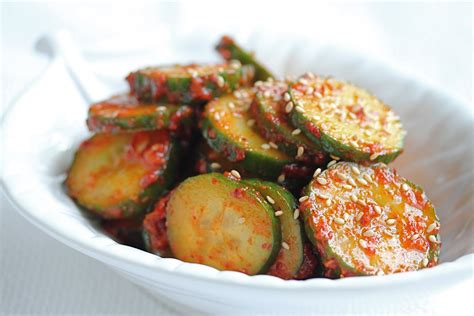 spicy korean cucumber salad recipe dishmaps