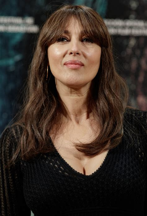 monica bellucci style monica bellucci long wavy cut with bangs newest looks