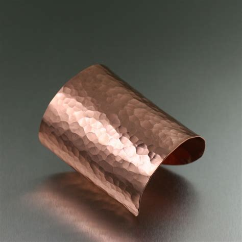 how to make copper jewelry hammered copper cuff bracelet