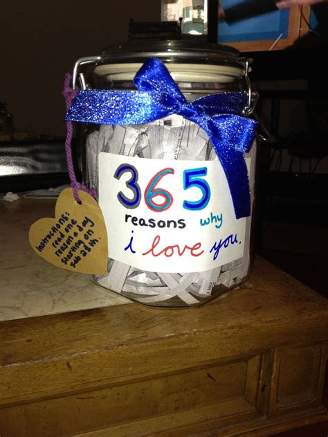 Gift To Husband 365 Days Of by 365 Reasons Why I You Jar 1 Year Anniversary Gift To