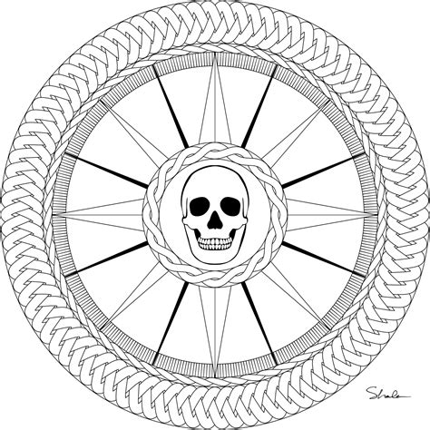 free coloring page compass rose don t eat the paste a pirate compass rose to color