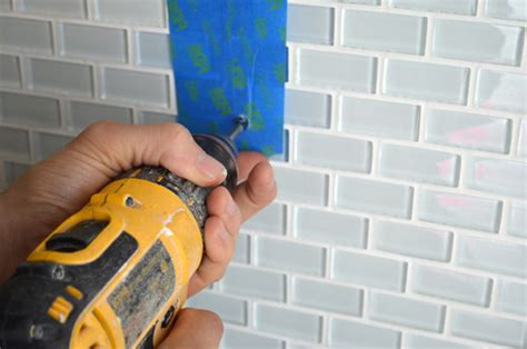 how to drill through bathroom tiles tip how to install a shower shelf glass or