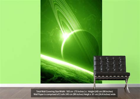 green vinyl wallpaper planets universe 17 universe green wallpaper printed wall