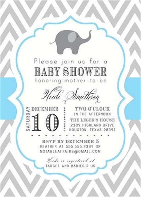 Create A Baby Shower Invitation by Baby Shower Invitations Elephant Theruntime