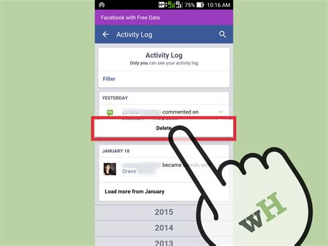 simple posted message fb new year 2 easy ways to delete comments or posts on on the app