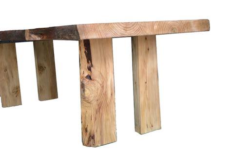 gambe tavolo tavolo in legno massello di cedro e gambe con inserto in