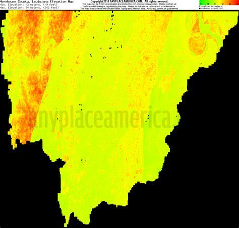 south louisiana elevation map free morehouse parish louisiana topo maps elevations
