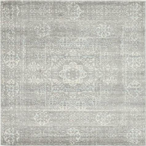 area rug 4 x 8 unique loom tradition silver 8 ft 4 in x 8 ft 4 in square area rug 3132778 the home depot