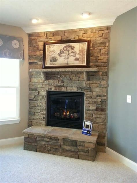 stacked stone fireplace pictures stacked stone fireplace home decor pinterest