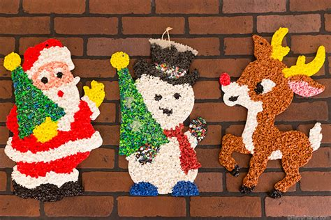 how to make xmas popcorn tinsel vintage 60s decorations www indiepedia org