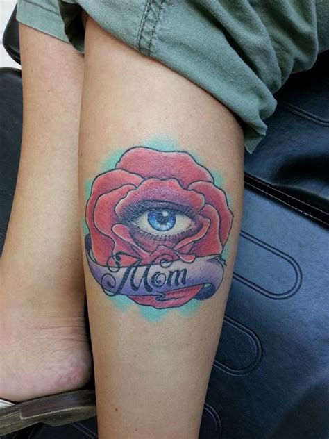 tattoo eye rose all seeing eye and rose for mom by chad pelland tattoonow