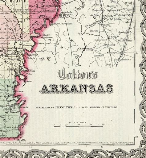 rock arkansas united states map map arkansas state 1865 united states of america