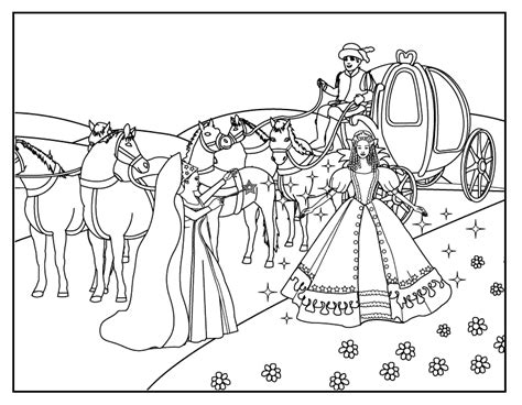 cinderella carriage coloring pages printable coloring pages