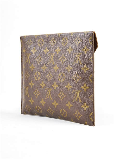 louis vuitton monogram poche plate  envelope clutch