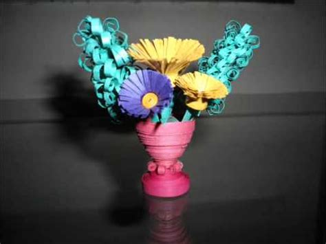Home Design 3d Undo handmade paper quilling flower vase hd youtube