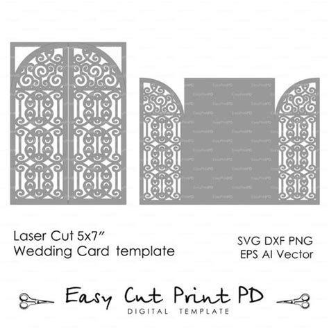 Silhouette Cameo Flip It Card Template Downloads by Wedding Invitation Card 5x7 Quot Template Iron Door Gate Folds