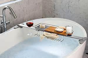 badewannen butler badewannenablage mit buchst 252 tze und glashalter das