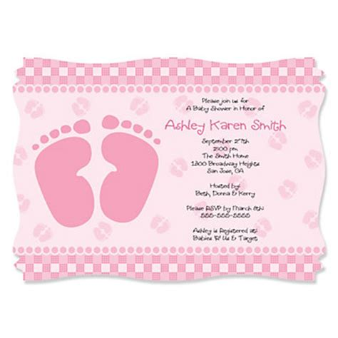 Footprints Baby Shower Theme by Baby Shower Footprint Invitation