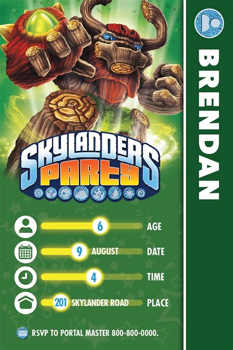 skylander birthday card template skylanders birthday the bubbly hostess