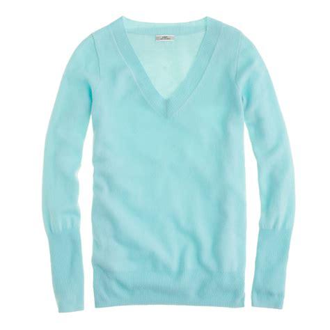 Jcrew I Do by J Crew V Neck Sweater In Blue Aqua Lyst
