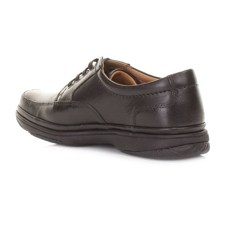 comfortable work shoes men clarks men black swift mile wide h fit leather comfortable