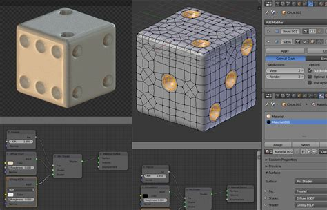 Blender Filip modelling a dice blender interplanety