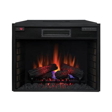 insert fireplace electric classicflame 28in infrared electric fireplace insert