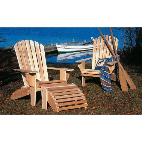Rustic Natural Cedar Unfinished Deluxe Adirondack Chair Unfinished Adirondack Patio Chair